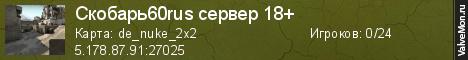 Статистика сервера Public • ОМСКИЙ СЕРВЕР • +16  в мониторинге Valvemon.ru