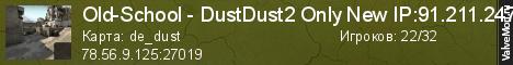 Статистика сервера Old-School - DustDust2 Only New IP:91.211.247.230:27019 в мониторинге Valvemon.ru