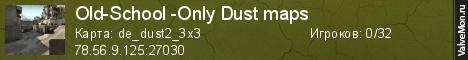 Статистика сервера Old-School -Only Dust maps в мониторинге Valvemon.ru