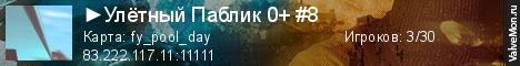 Статистика сервера  Улётный Паблик 0+ #8 в мониторинге Valvemon.ru