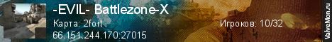 Статистика сервера -EVIL- Battlezone-X 2019 edition в мониторинге Valvemon.ru