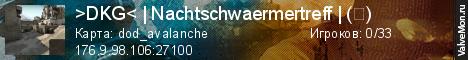 Статистика сервера >DKG< | Nachtschwaermertreff | (ツ) в мониторинге Valvemon.ru