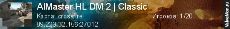 Статистика сервера AIMaster HL DM 2 | Classic в мониторинге Valvemon.ru