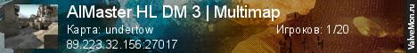 Статистика сервера AIMaster HL DM 3 | Multimap в мониторинге Valvemon.ru