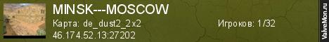 Статистика сервера MINSK---MOSCOW в мониторинге Valvemon.ru