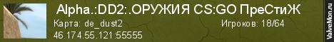 Статистика сервера  Alpha.:DD2:.Хамство Мут в мониторинге Valvemon.ru