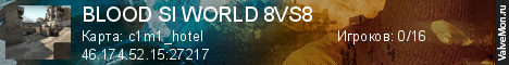 Статистика сервера BLOOD SI WORLD 8VS8 в мониторинге Valvemon.ru