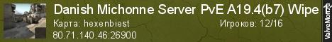 Статистика сервера Danish Michonne Server PvE A19.3(b6) Wipe 22-12-2020 в мониторинге Valvemon.ru