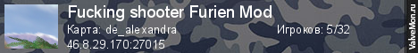 Статистика сервера Fucking shooter Furien Mod в мониторинге Valvemon.ru