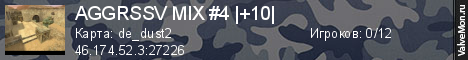 Статистика сервера AGGRESSIVE MIX #4  3-12  в мониторинге Valvemon.ru