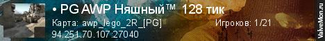 Статистика сервера • PG AWP Няшный™ 128 тик в мониторинге Valvemon.ru