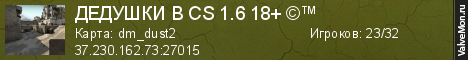 Статистика сервера ДЕВУШКИ В cs 1.618+  в мониторинге Valvemon.ru