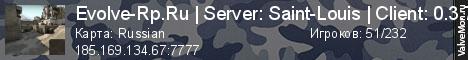 Статистика сервера Evolve-Rp.Ru | Server: 01 | Акция для новичков в мониторинге Valvemon.ru