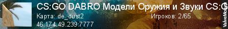 Статистика сервера CS:GO Война Скинов №2 Оружия CS:GO в мониторинге Valvemon.ru