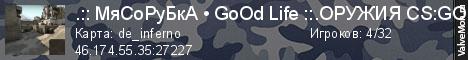 Статистика сервера .:: МяСоРуБкА • GoOd Life ::.|| 18+ в мониторинге Valvemon.ru