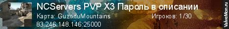 Статистика сервера 18.4 Русский сервер Nuka-Cola PVP X2 XP в мониторинге Valvemon.ru