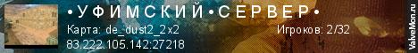Статистика сервера • У Ф И М С К И Й • С Е Р В Е Р • в мониторинге Valvemon.ru
