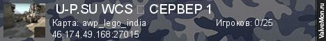 Статистика сервера УЛЁТНЫЙ WCSСЕРВЕР 1ОБНОВА в мониторинге Valvemon.ru