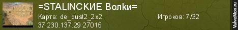 Статистика сервера ❤ =STALINCKИE Boлkи= СНС® в мониторинге Valvemon.ru