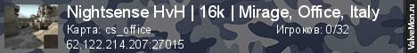 Статистика сервера Новый Сервер от MyArena в мониторинге Valvemon.ru